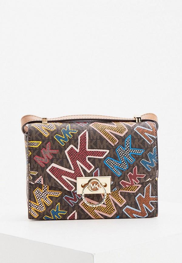 женская сумка через плечо michael kors, коричневая
