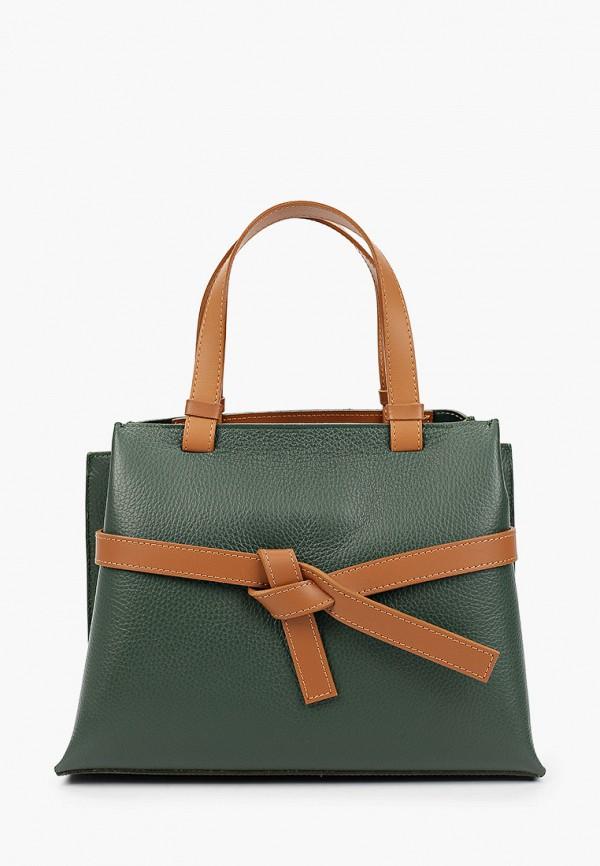 женская сумка с ручками giulia monti, зеленая