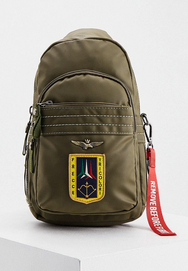 мужская сумка через плечо aeronautica militare, хаки
