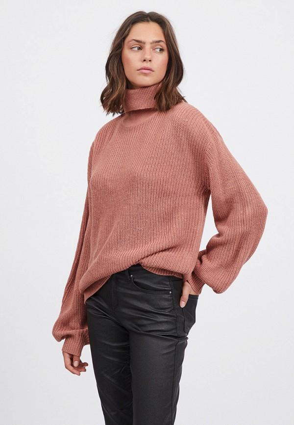 женский свитер vila, розовый