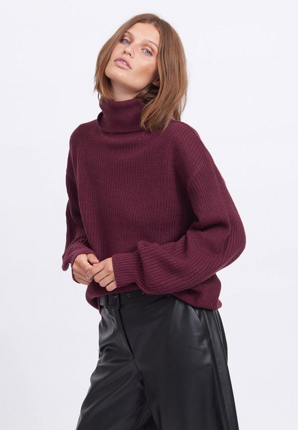 женский свитер vila, бордовый