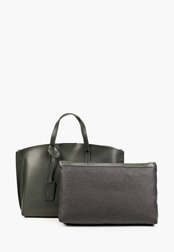 женская сумка с ручками kristy.x, зеленая