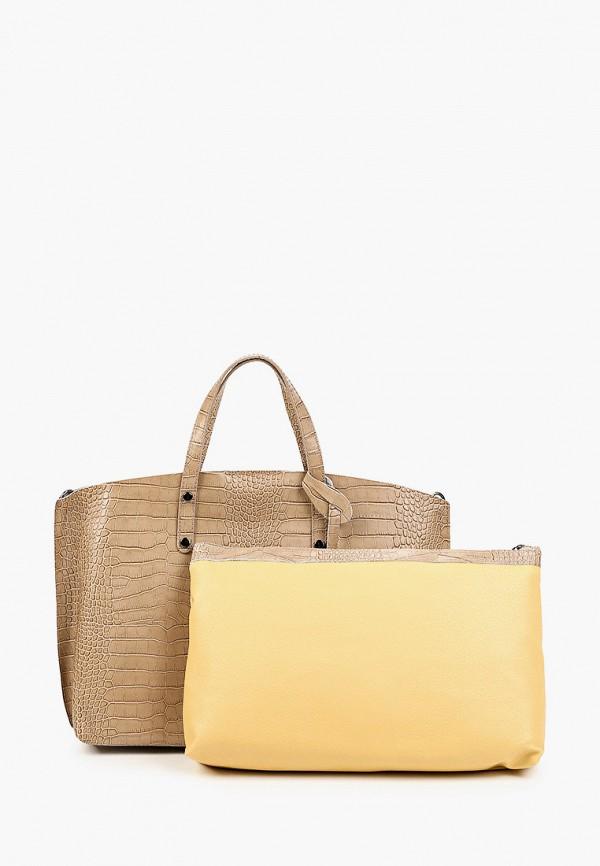 женская сумка с ручками kristy.x, бежевая