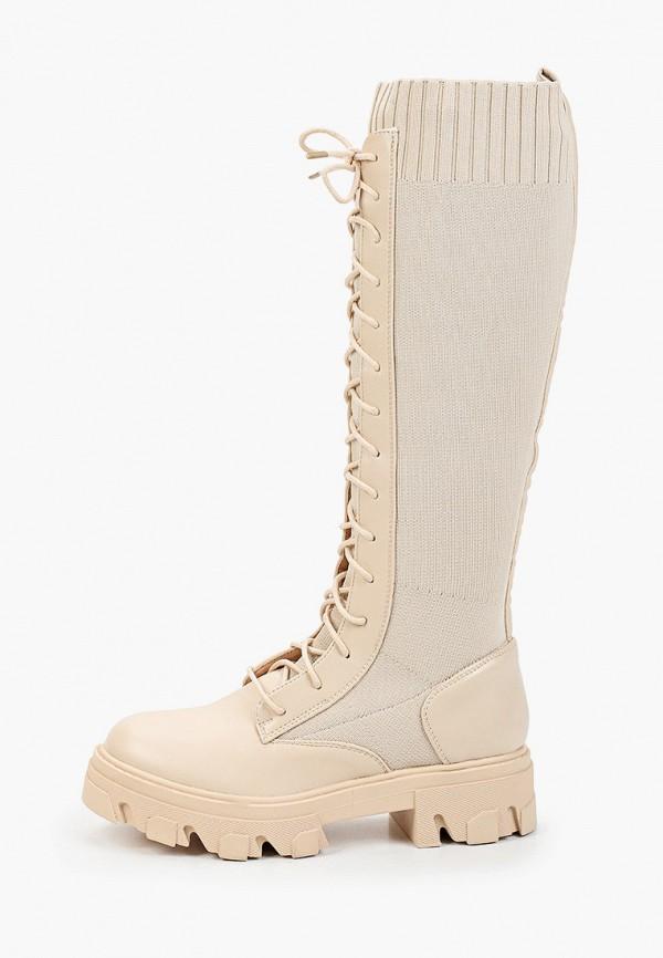 женские сапоги sweet shoes, бежевые