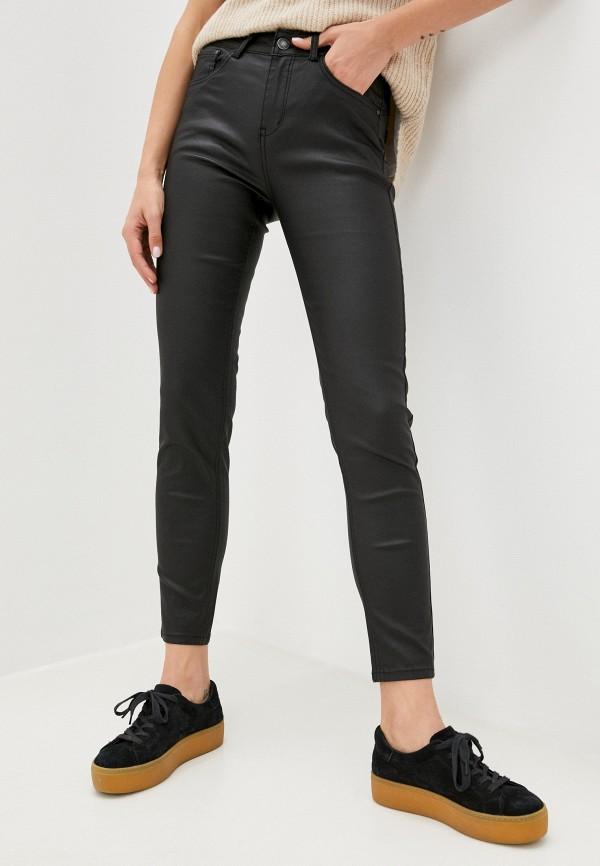 женские зауженные брюки miss bon bon, черные