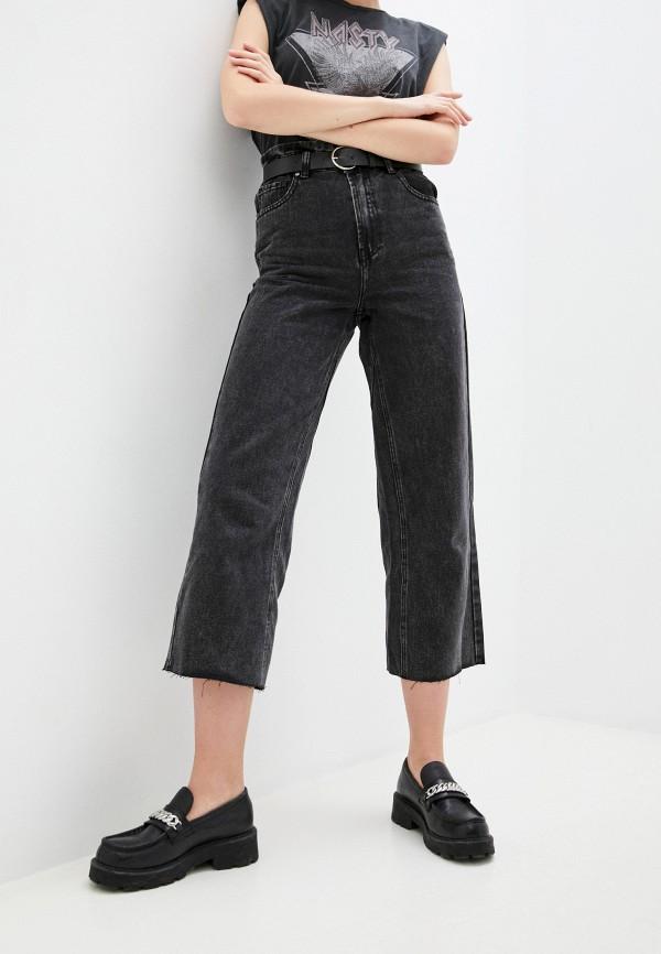 женские джинсы клеш miss bon bon, черные