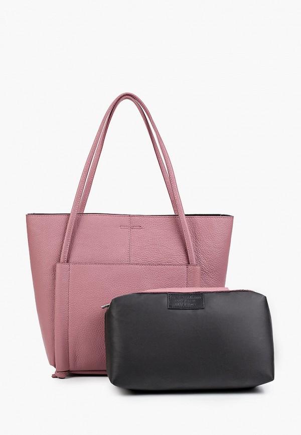 женская сумка-шоперы lamania, розовая
