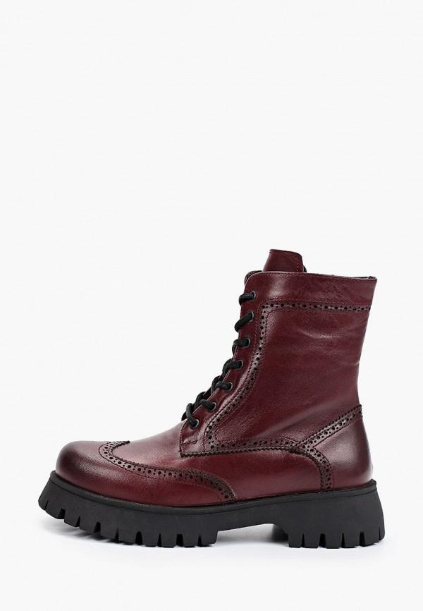 женские высокие ботинки vm7, бордовые
