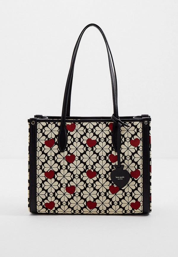женская сумка-шоперы kate spade, бежевая