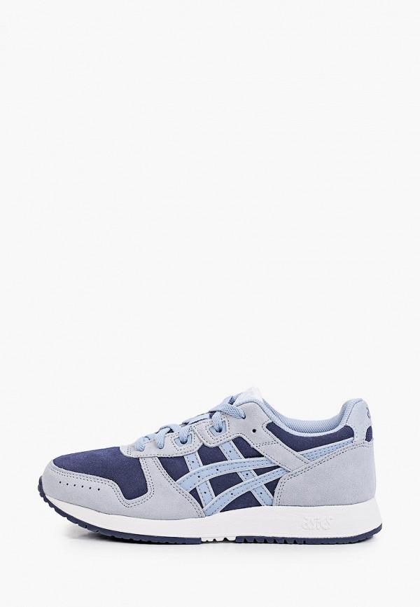 женские низкие кроссовки asics, синие