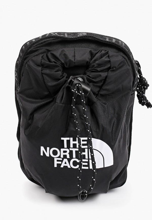 женская сумка через плечо the north face, черная