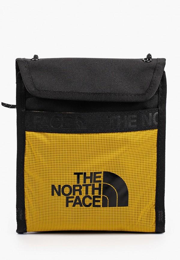 женская сумка через плечо the north face, желтая