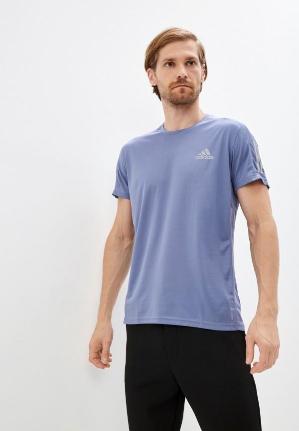 мужская спортивные футболка adidas, фиолетовая