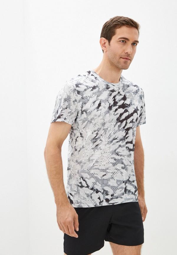 мужская футболка с коротким рукавом adidas, серая