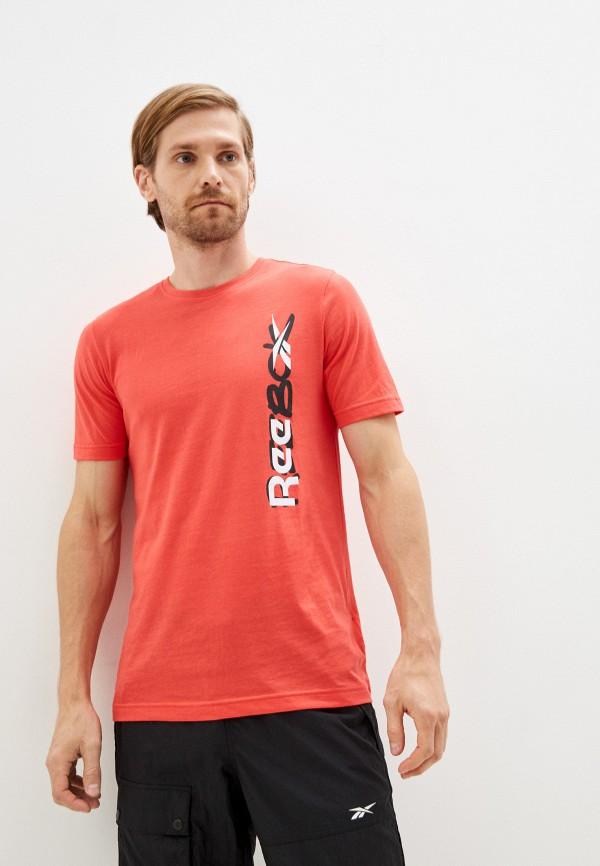 Футболка Reebok кораллового цвета