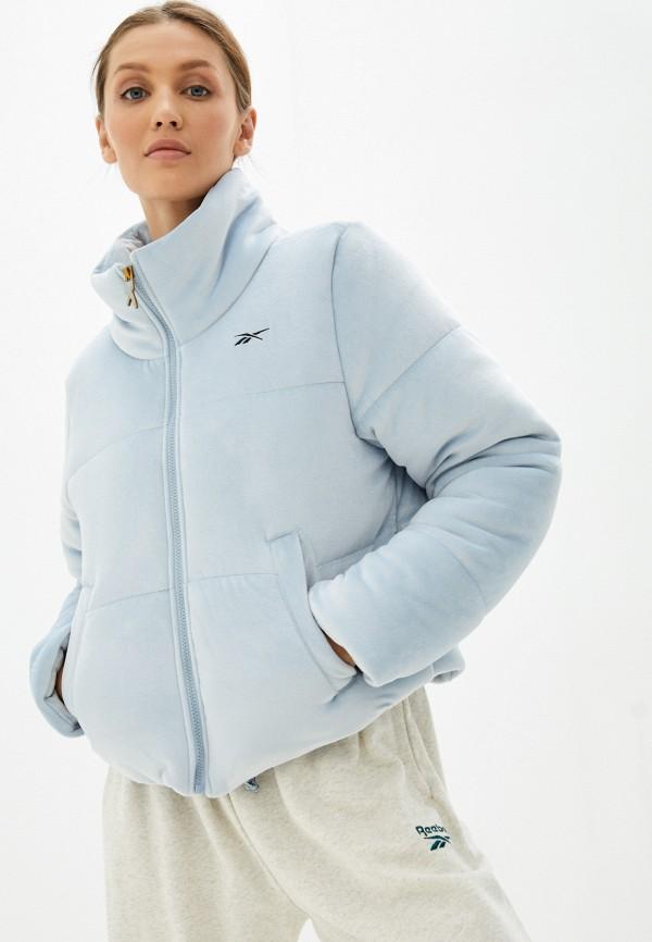 Куртка утепленная Reebok голубого цвета
