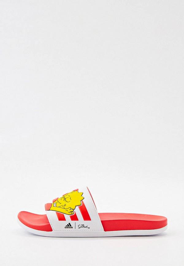 женские сланцы adidas, разноцветные