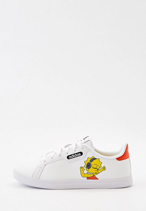 Кеды adidas белого цвета
