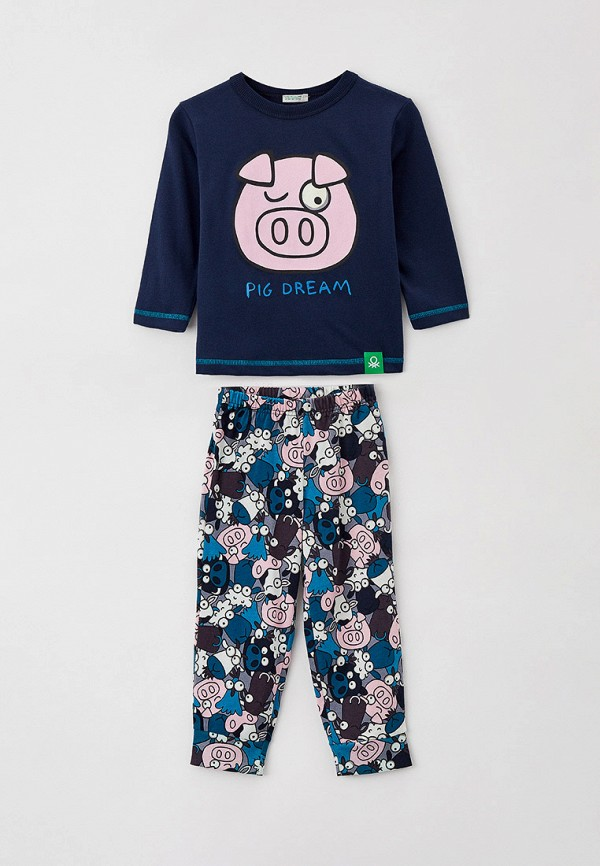 пижама united colors of benetton для мальчика, синяя