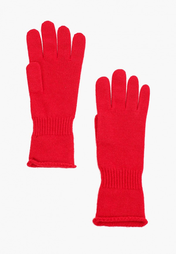 женские текстильные перчатки united colors of benetton, красные