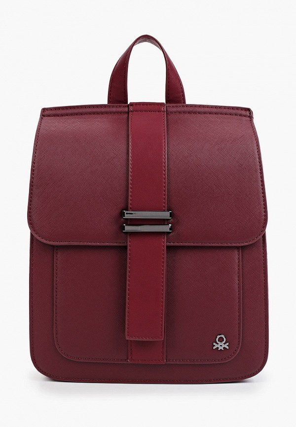 женский рюкзак united colors of benetton, бордовый
