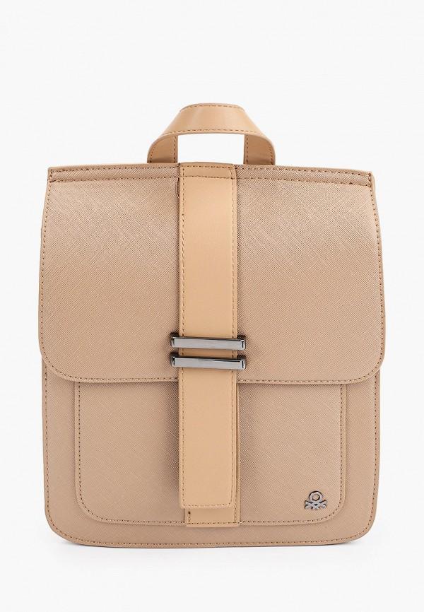 женский рюкзак united colors of benetton, коричневый