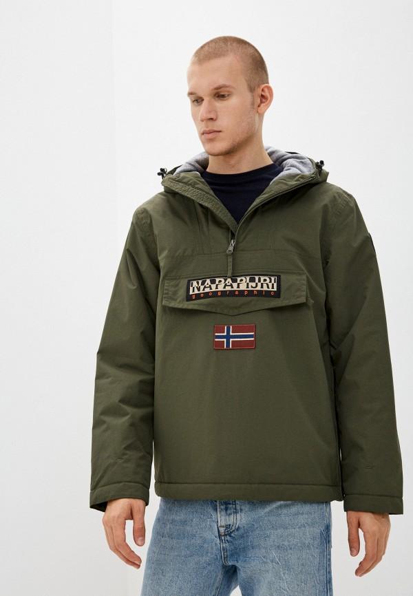 мужская утепленные куртка napapijri, хаки