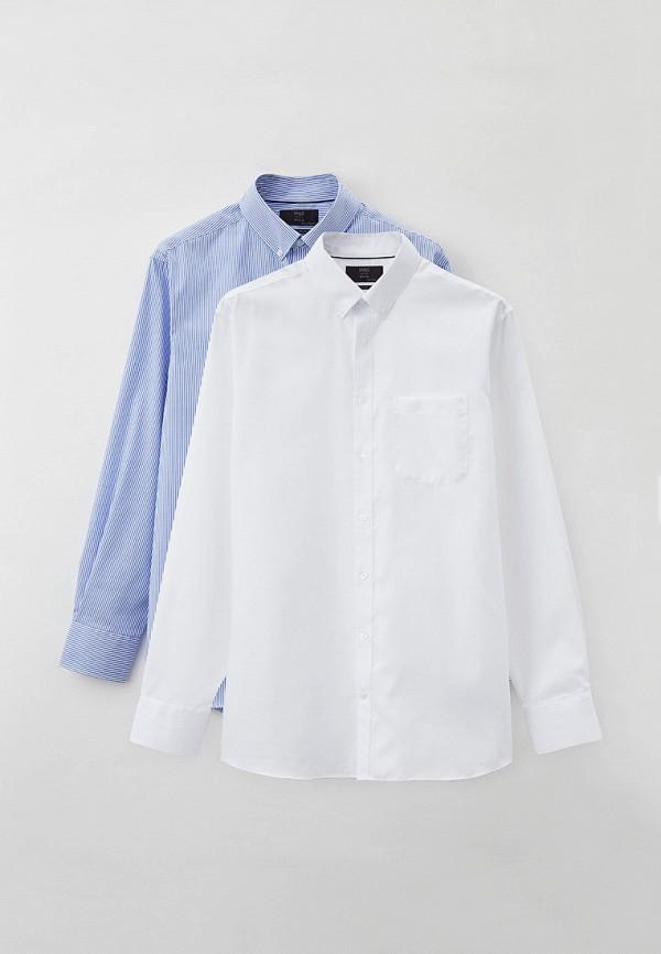 мужская рубашка marks & spencer, разноцветная