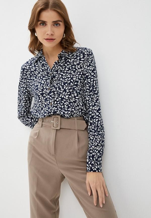 женская блузка marks & spencer, синяя