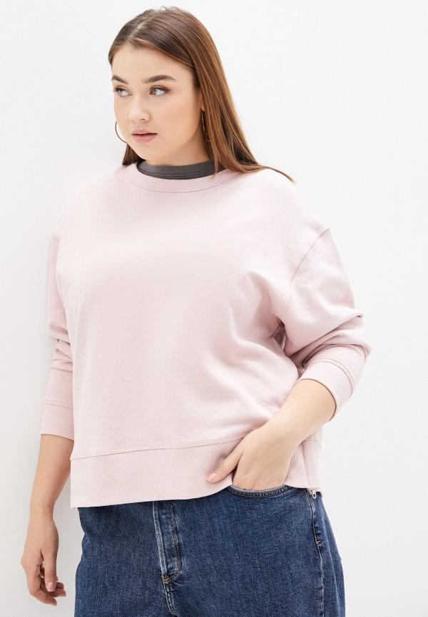 женский свитшот marks & spencer, розовый