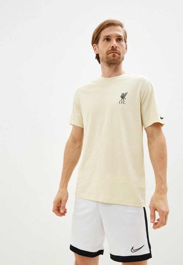 мужская футболка с коротким рукавом nike, желтая
