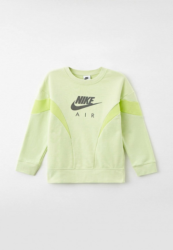 свитшот nike для девочки, зеленый