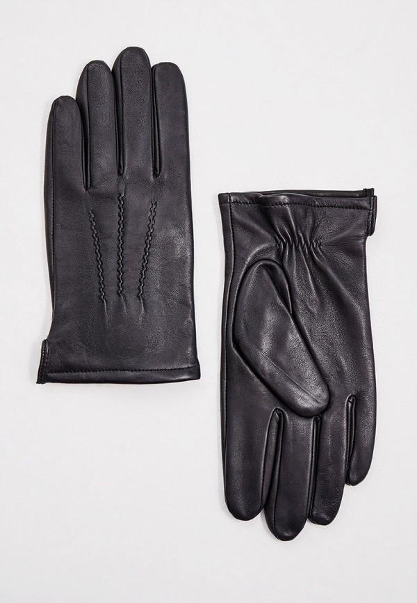 мужские кожаные перчатки karl lagerfeld, черные
