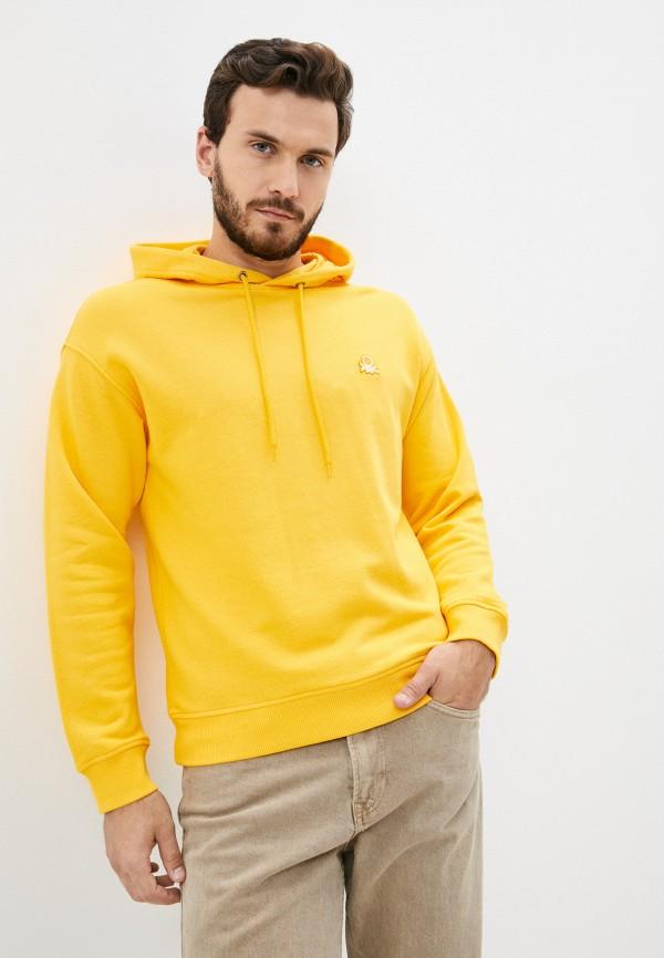 мужские худи united colors of benetton, желтые