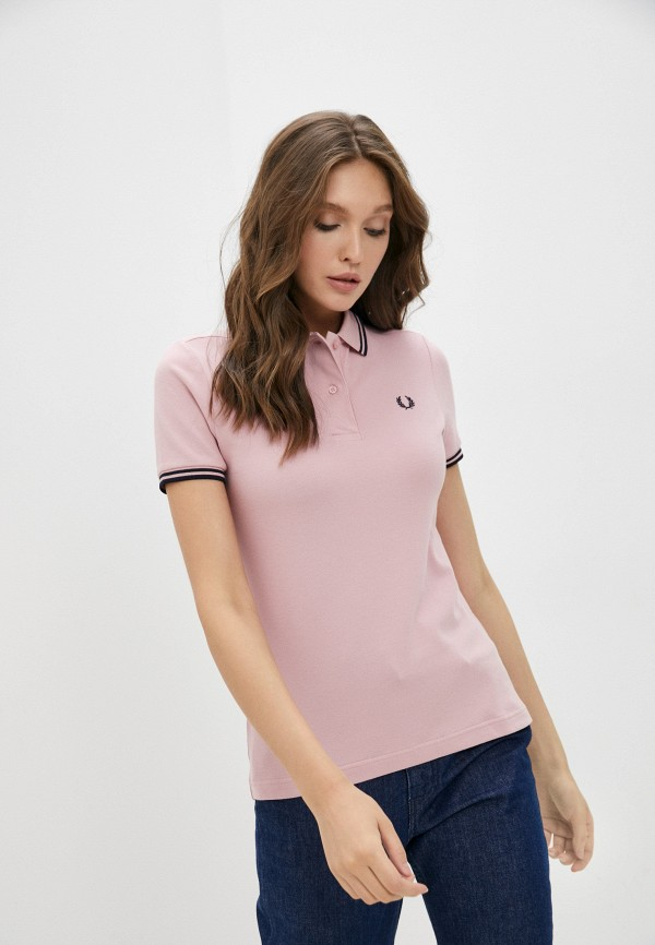 женское поло fred perry, розовое
