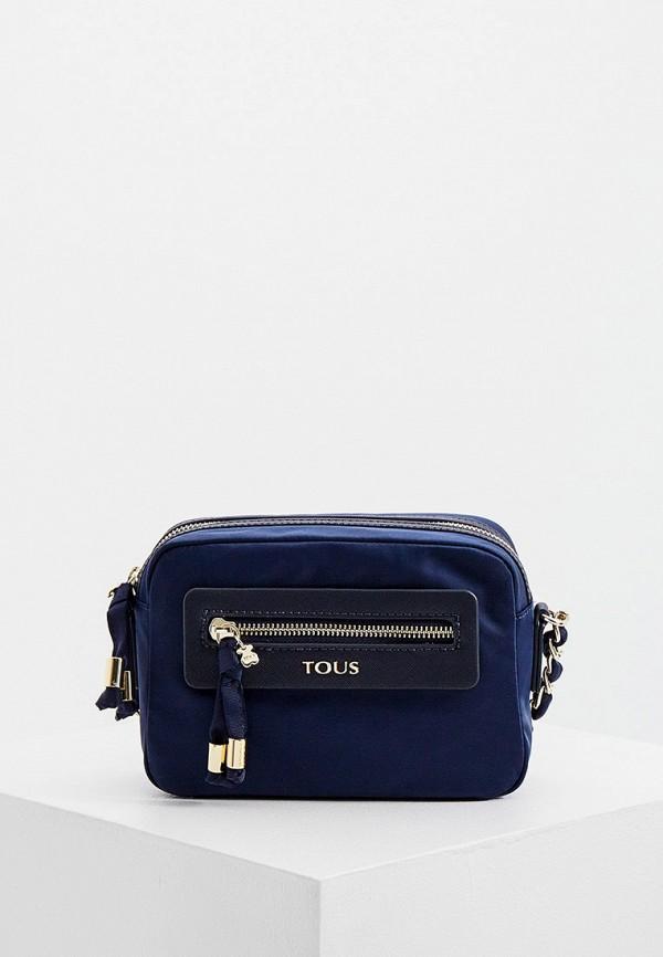 женская сумка через плечо tous, синяя
