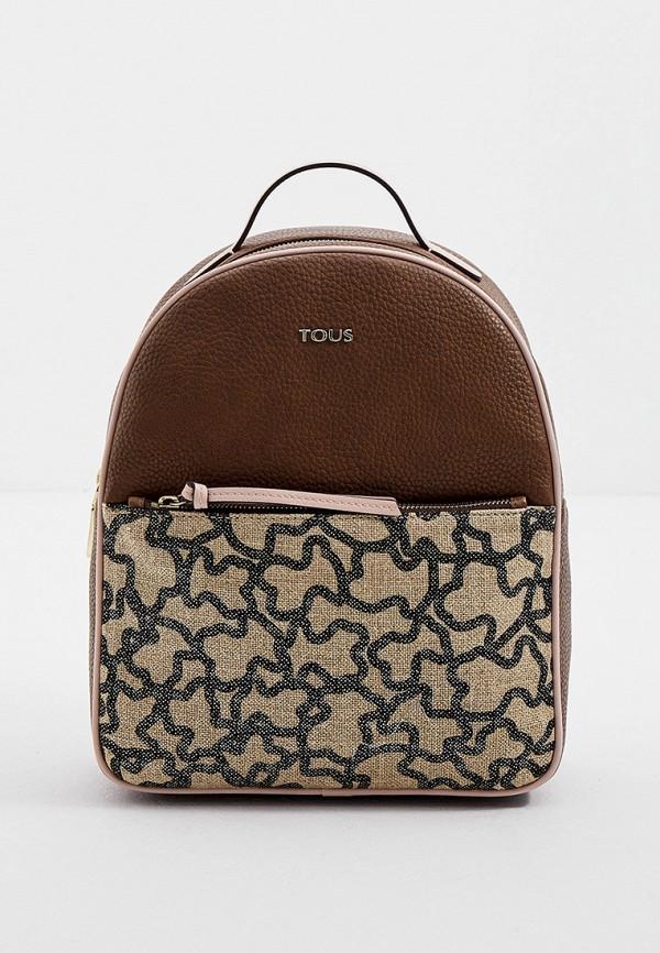женский рюкзак tous, коричневый