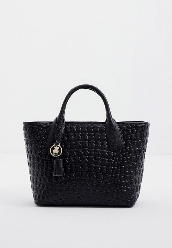женская сумка-шоперы tous, черная