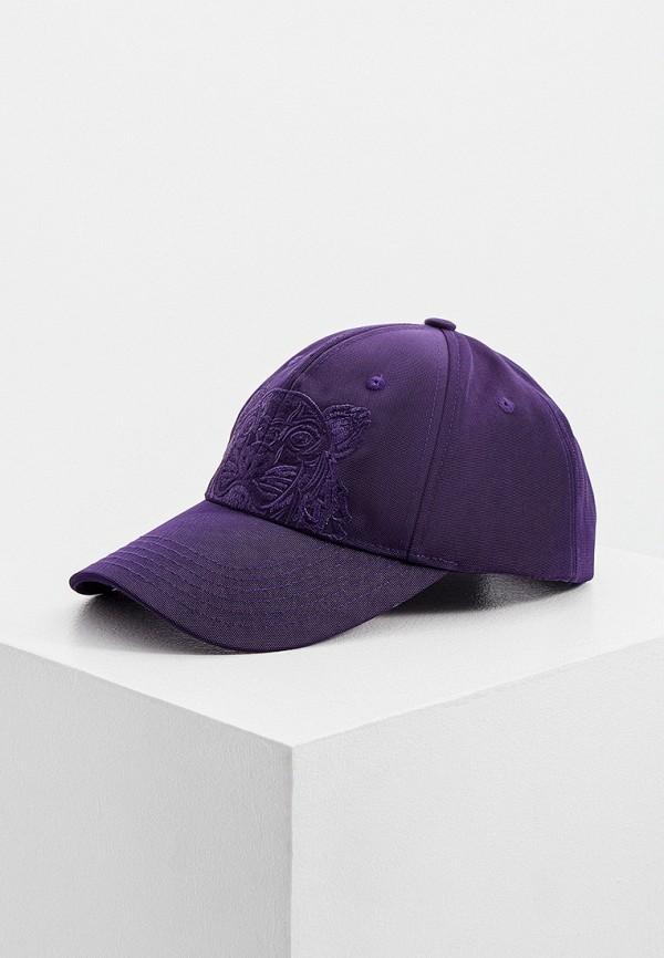женская бейсболка kenzo, фиолетовая