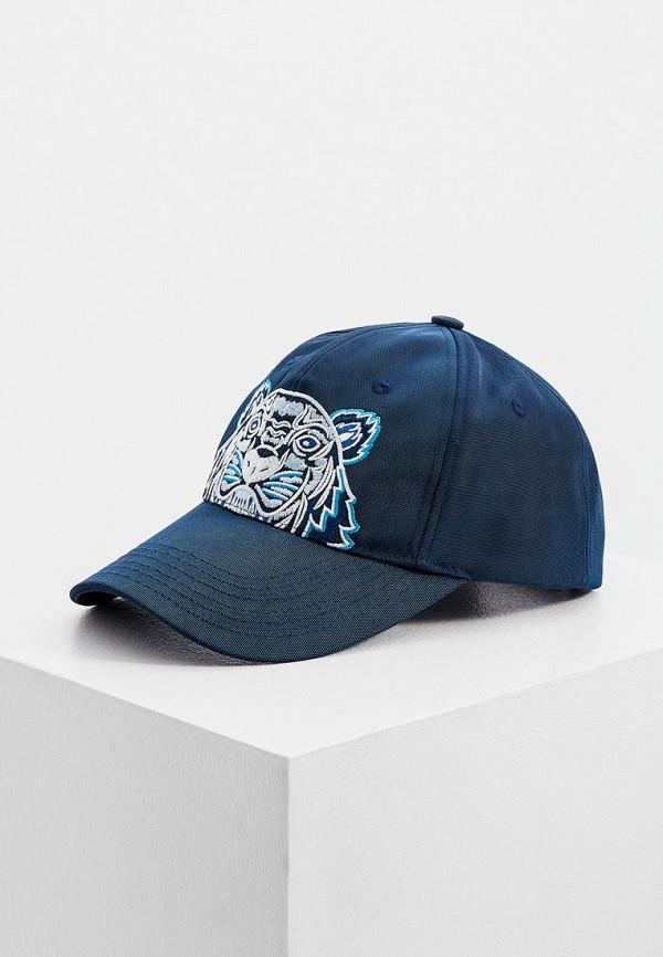 женская бейсболка kenzo, синяя