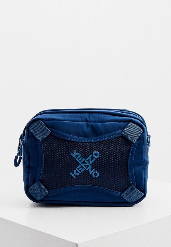 мужская сумка через плечо kenzo, синяя