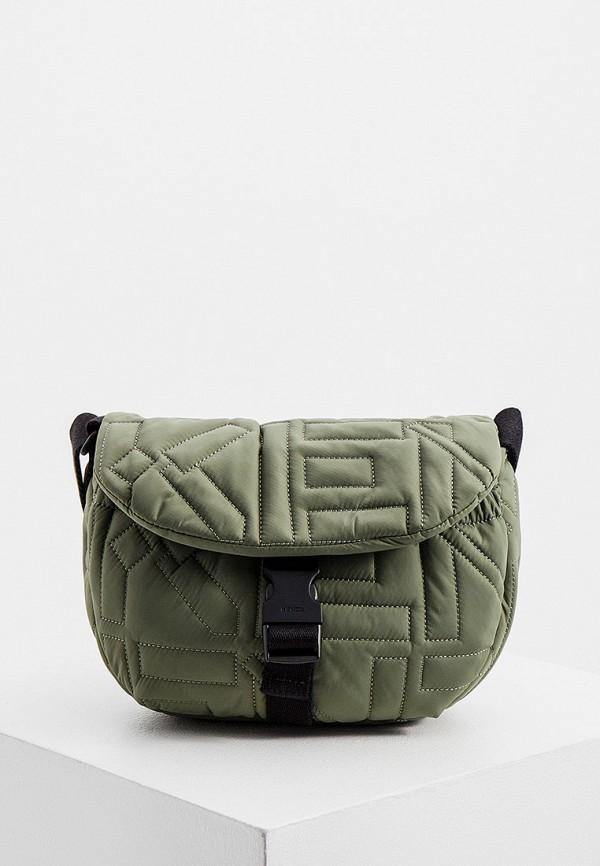 женская сумка через плечо kenzo, хаки