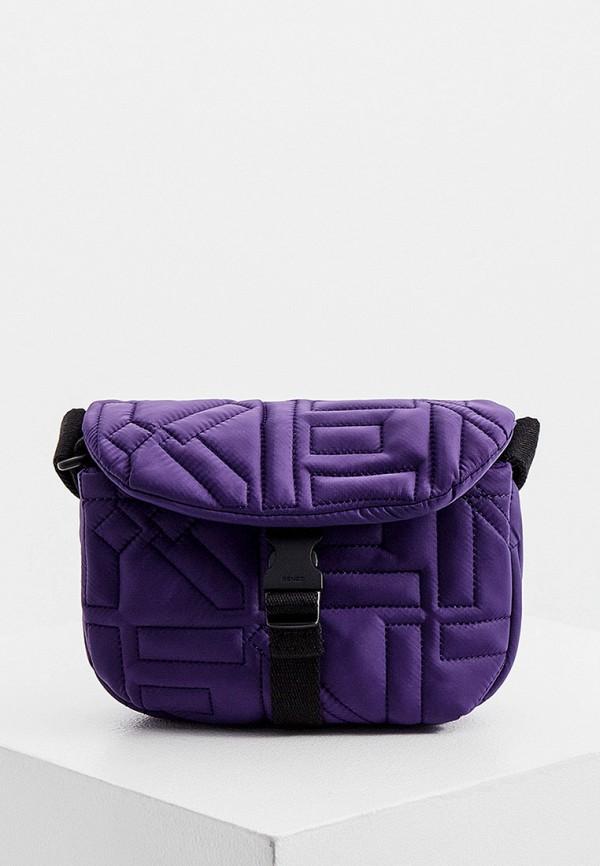 женская сумка через плечо kenzo, фиолетовая