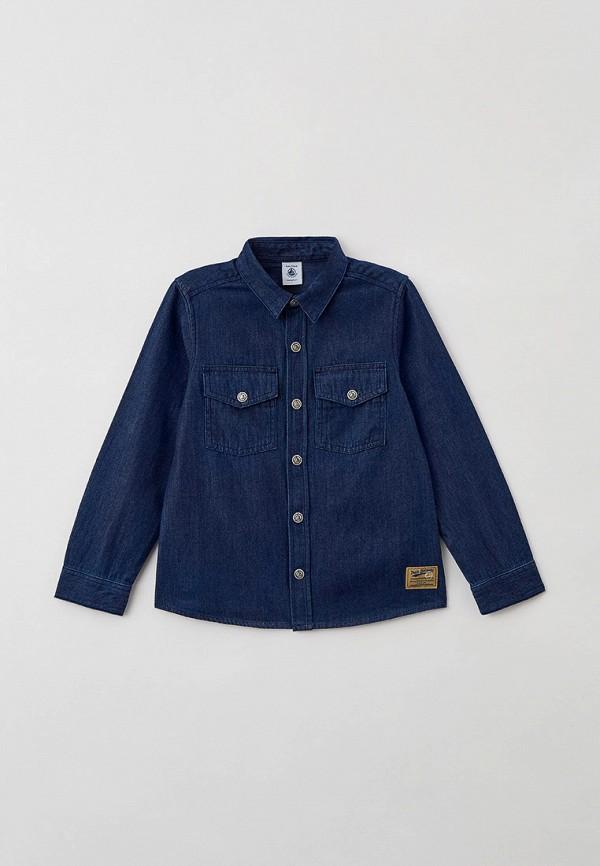 джинсовые рубашка petit bateau для мальчика, синяя