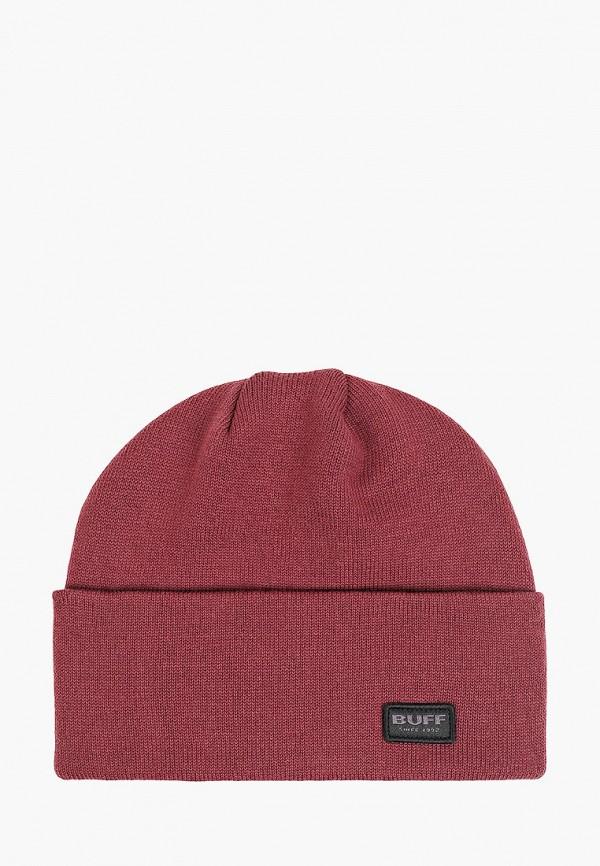 женская шапка buff, бордовая