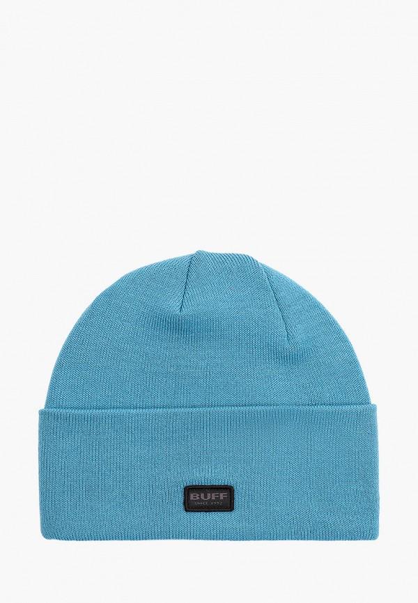 женская шапка buff, голубая