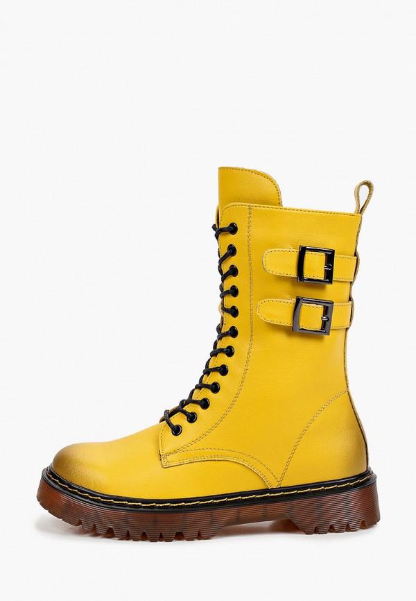 женские высокие ботинки тофа, желтые