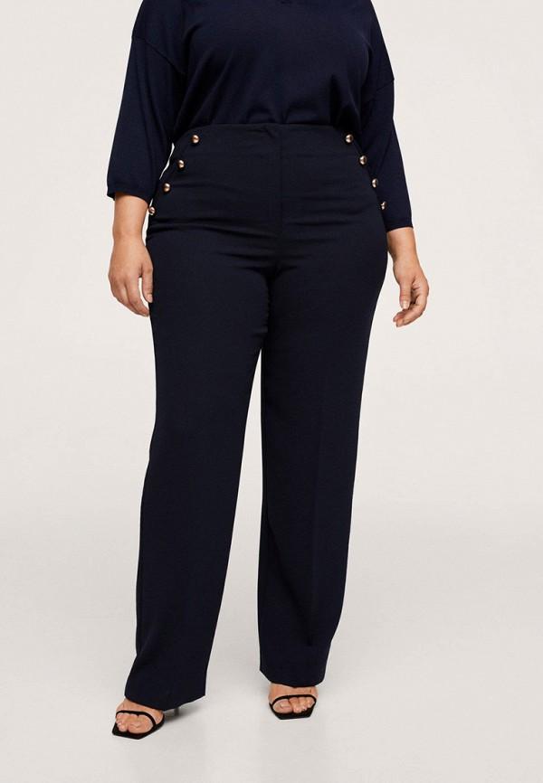 женские прямые брюки violeta by mango, синие