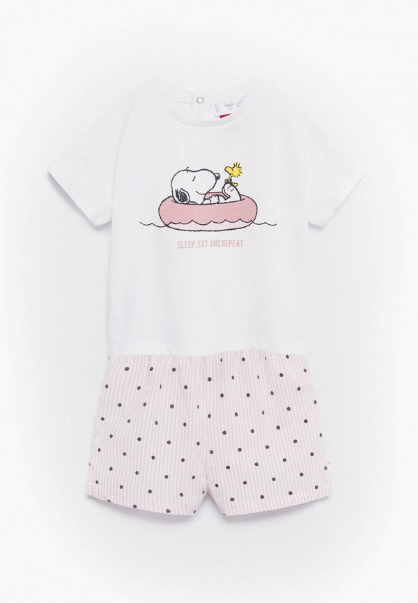 пижама mango kids для девочки, белая