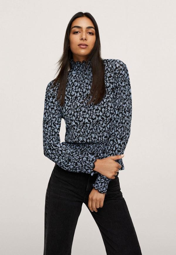 женская блузка mango, синяя